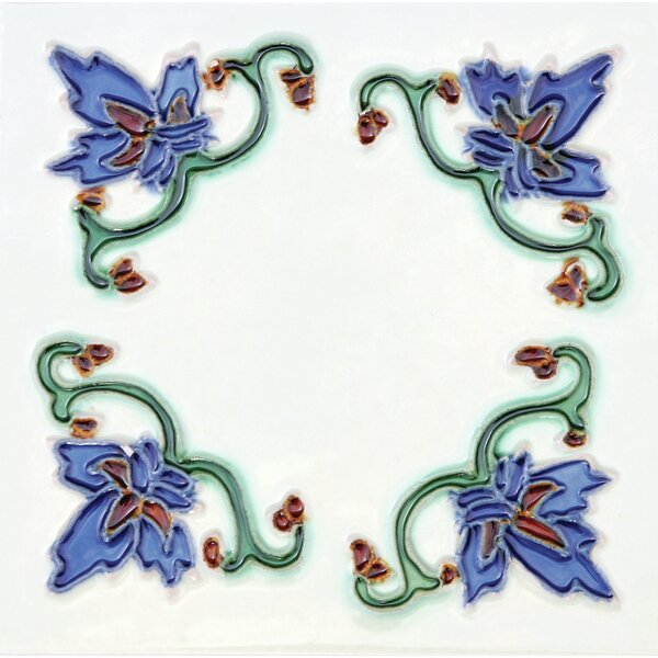 Hand-Painted 6 x 6 Ceramic Field Tile in Invierno by Solistone