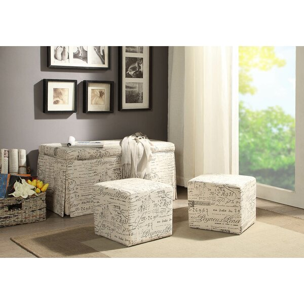 Kettner 3 Piece Storage Bench and Ottoman Set (Set of 3) by Ophelia & Co.