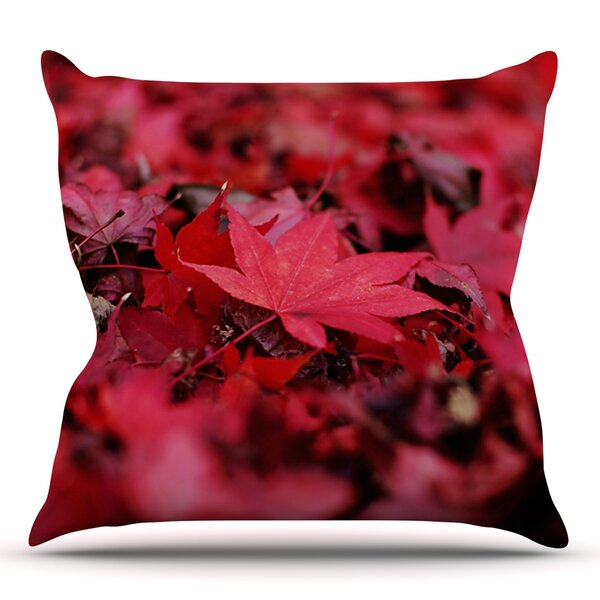 Leaves by Angie Turner Outdoor Throw Pillow by East Urban Home