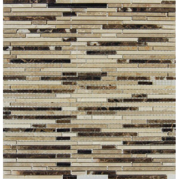 Emperador Mounted Random Sized Marble Mosaic Tile in Brown by MSI