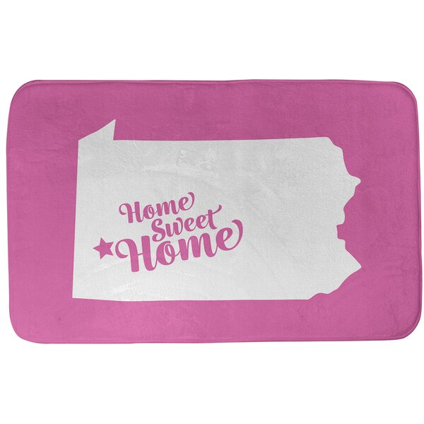 Home Sweet Pittsburgh Rectangle Non-Slip Does Not Apply Bath Rug