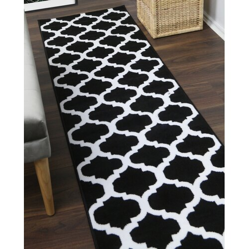 Thelma Tufted Black Rug Marlow Home Co. Rug Size: Runner 60