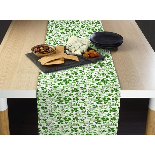 Evatt Shamrock Scroll Table Runner by The Holiday Aisle