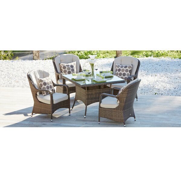 Winebrenner 5 Piece Outdoor Dining Set with Cushions by Darby Home Co