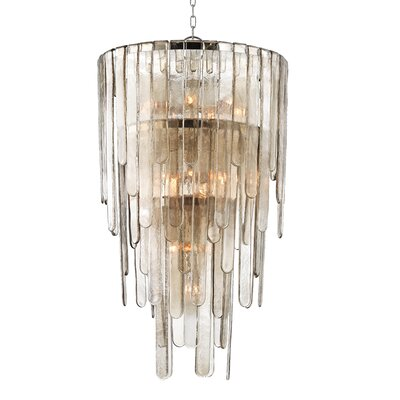 Patricia 4 light Black Metal Drum Shade Crystal Chandelier