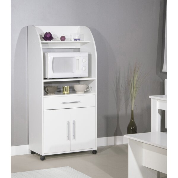 Kavanaugh Microwave Kitchen Cart by Ebern Designs