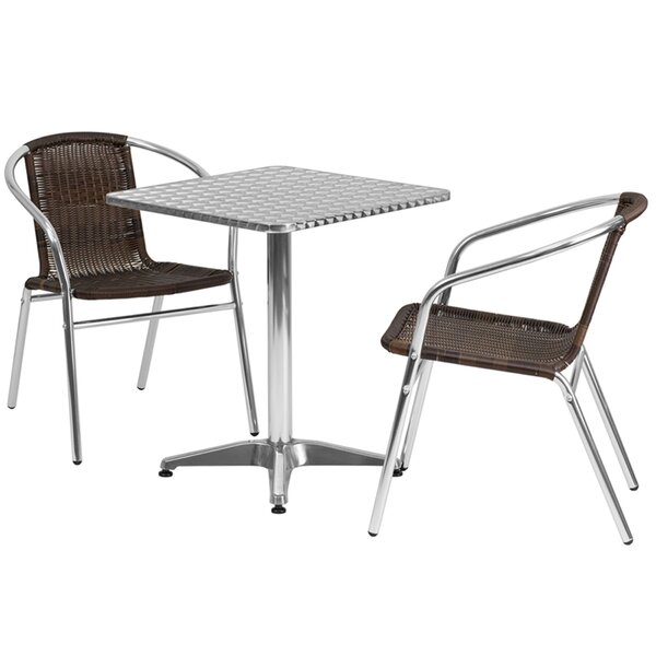 Huxley Square Indoor Outdoor 2 Piece Bar Height Dining Set by Ebern Designs