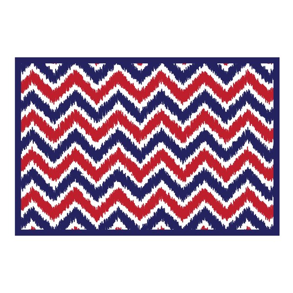 Mix N Match Navy / Red Area Rug by Bacati