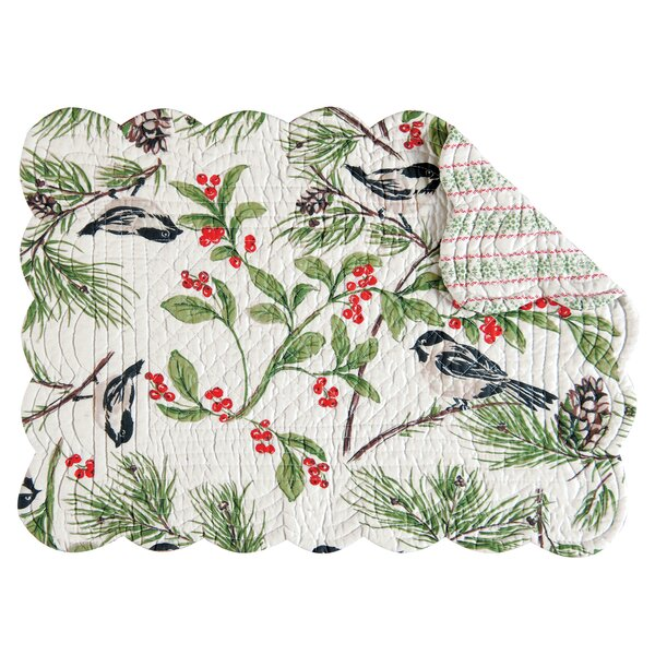 Chickadee Placemat (Set of 6) by C&F Home