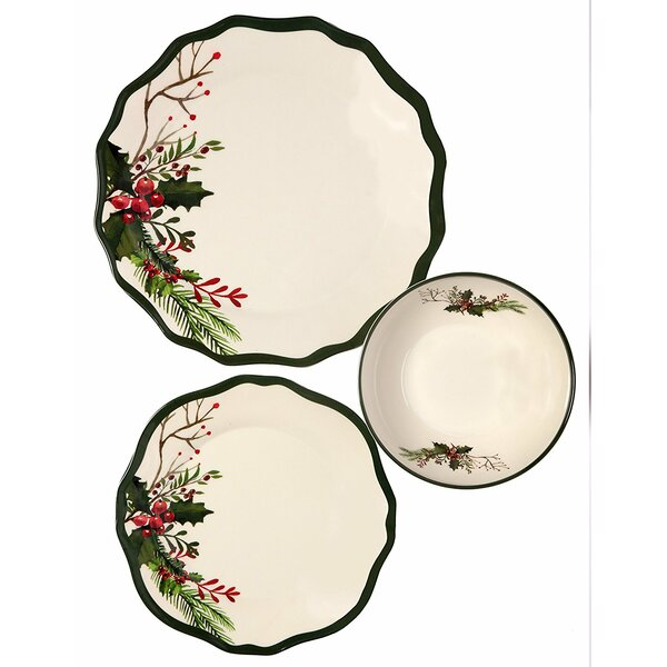 Winter Bouquet 36 Piece Dinnerware Set, Service for 12 (Set of 12) by The Holiday Aisle