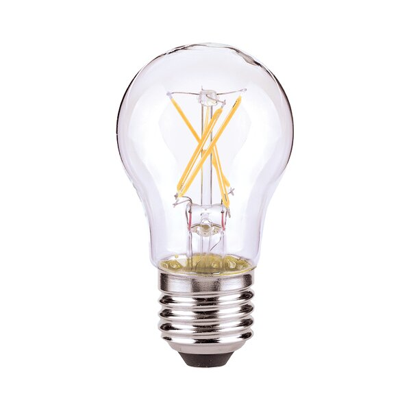 5W E26/Medium (Standard) LED Vintage Filament Light Bulb (Set of 6) by Satco