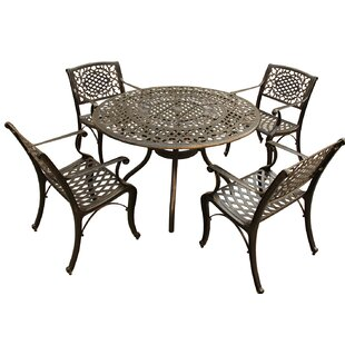 Casperson Ornate Mesh Lattice 5 Piece Dining Set By Fleur De Lis Living