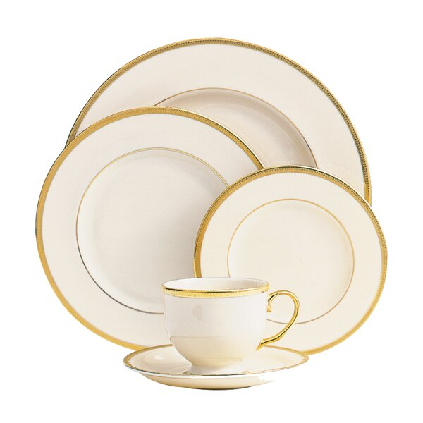 Tuxedo Bone China 5 Piece Place Setting, Service for 1 by Lenox
