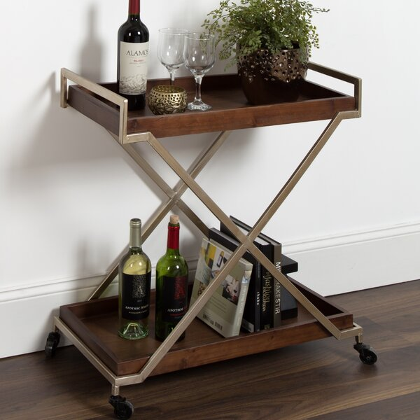 Anthonyson Kitchen Trolley Utility Dining Bar Cart by Ivy Bronx Ivy Bronx