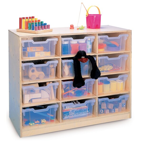 Gratnell 12 Compartment Cubby with Casters by Whitney Brothers