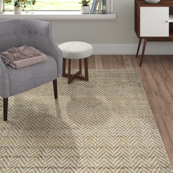 Burroughs Gray/Yellow Area Rug by Langley Street