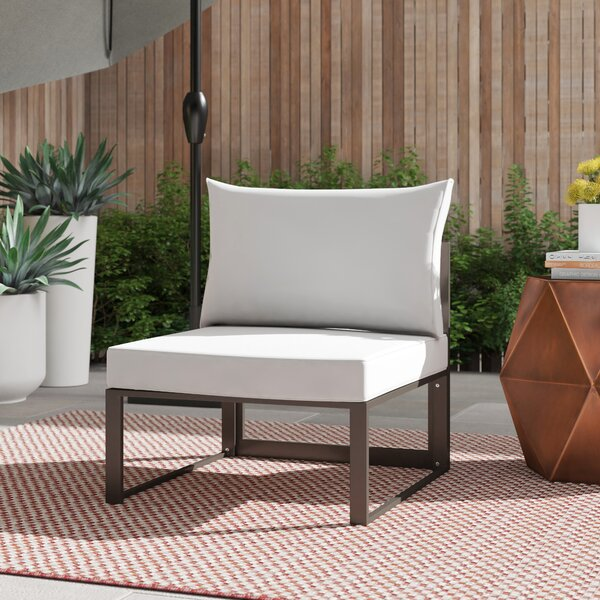 Annemarie Outdoor Patio Chair with Cushions by Foundstone