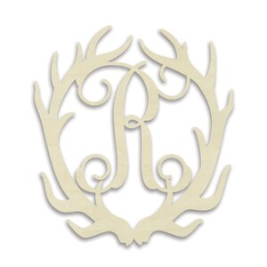 Alina Antler Monogram Hanging Initials by Harriet Bee
