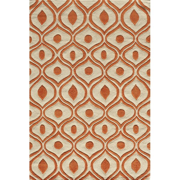 Perkins Hand-Tufted Orange Area Rug by Zipcode Design