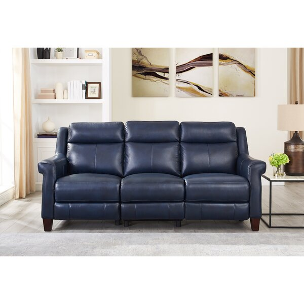 Arielle 3 Piece Leather Reclining Living Room Set by Red Barrel Studio