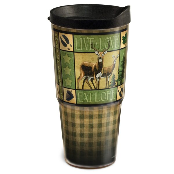 Lodge Series Moose 2-Tier 24 oz. Plastic Travel Tumbler by American Expedition