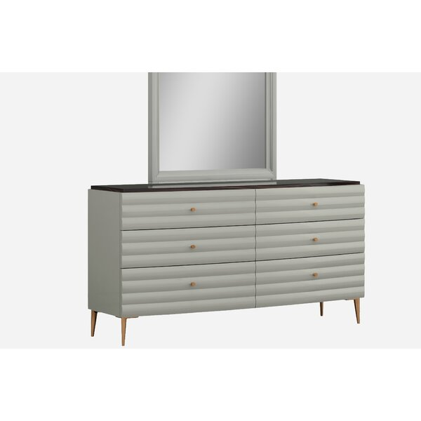 Amick 6 Drawer Double Dresser by Everly Quinn