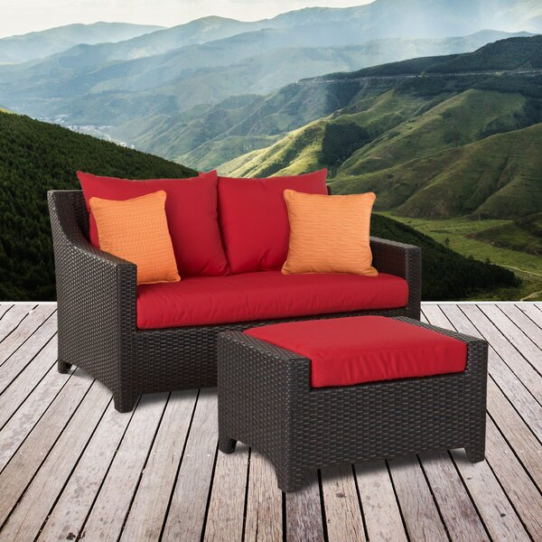 Northridge Loveseat with Sunbrella Cushions by Three Posts Three Posts