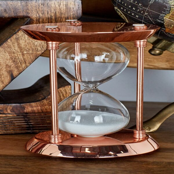 Metal and Glass 15 Minute Hourglass by Cole & Grey
