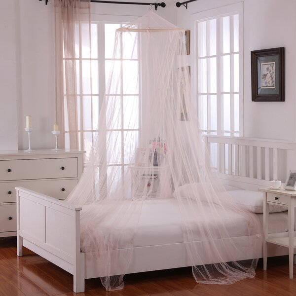 Laurencho Round Hoop Sheer Bed Canopy Net by Willa Arlo Interiors