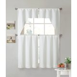 Sheer Kitchen Curtains Set | Wayfair