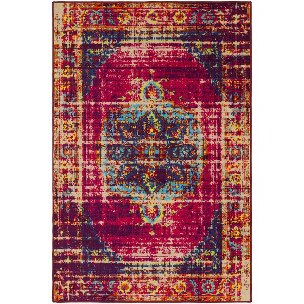 Prasad Pink/Purple Area Rug by Bungalow Rose