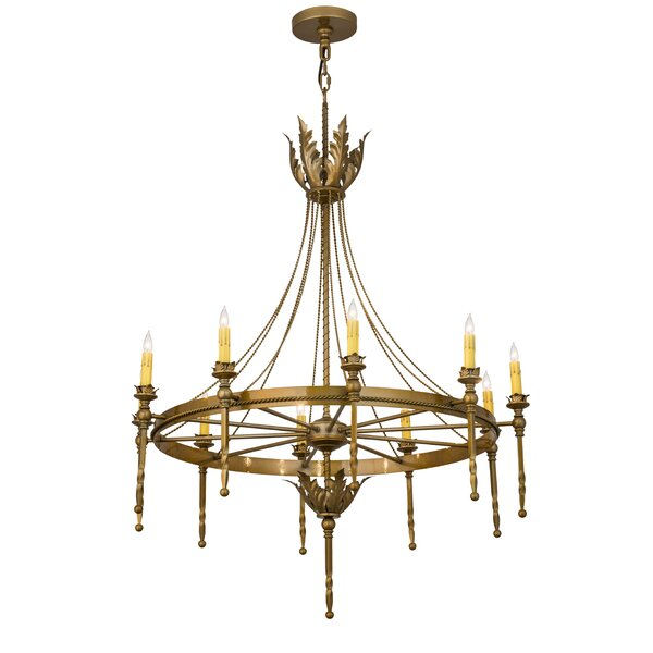 Nordheim 10 - Light Candle Style Wagon Wheel Chandelier by Astoria Grand Astoria Grand