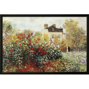 'The Garden Poster' by Claude Monet Framed Painting Print by Buy Art For Less