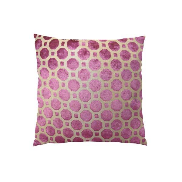 Velvet Geo Handmade Throw Pillow by Plutus Brands