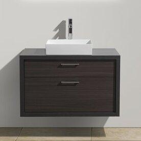 Best Boutin 36 Wall-Mounted Single Bathroom Vanity Set ByWrought Studio