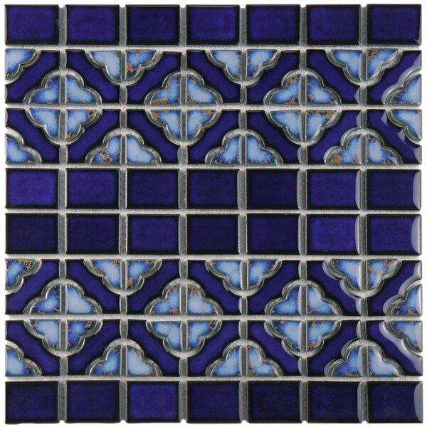 Jericho Random Sized Porcelain Mosaic Tile in Cobalt by EliteTile