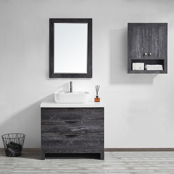 Kelsey 36 Single Bathroom Vanity Set with Mirror by Union Rustic