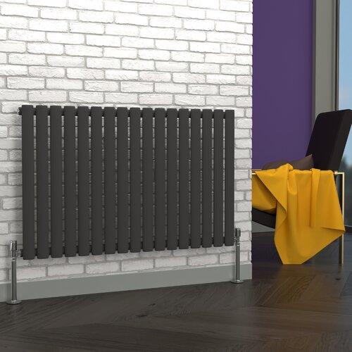 Horizontaler Röhren-Heizkörper Alyssa Belfry Heating Heizkörperfarbe: Grau| Größe: 63 cm x 82 cm | Baumarkt > Heizung und Klima | Belfry Heating
