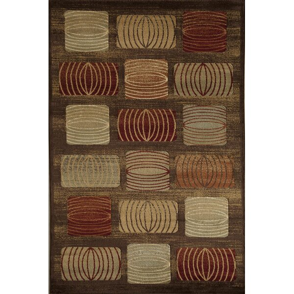 Allston Brown/Rust Area Rug by Threadbind