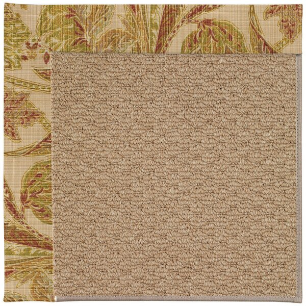 Lisle Machine Tufted Tan/Brown Indoor/Outdoor Area Rug by Longshore Tides