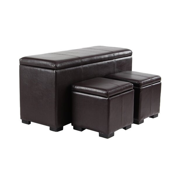 Laivai Eclectic Rectangular 3 Piece Vanity Stool Set by Red Barrel Studio