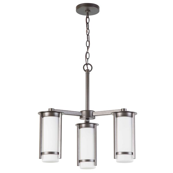 Leiser 3-Light Shaded Chandelier by Latitude Run