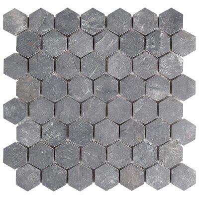 Elitetile Peak 15 X 163 Natural Stone Mosaic Tile In Black