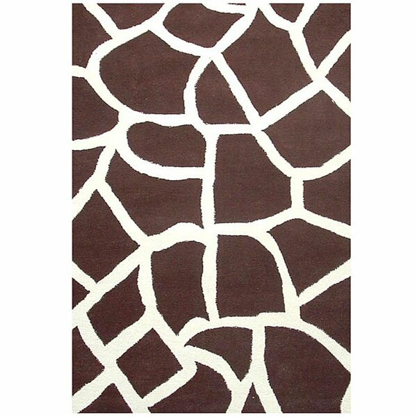 Contempo Brown/White Area Rug by Acura Rugs