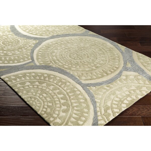 Elda Hand-Tufted Green Area Rug by Bungalow Rose