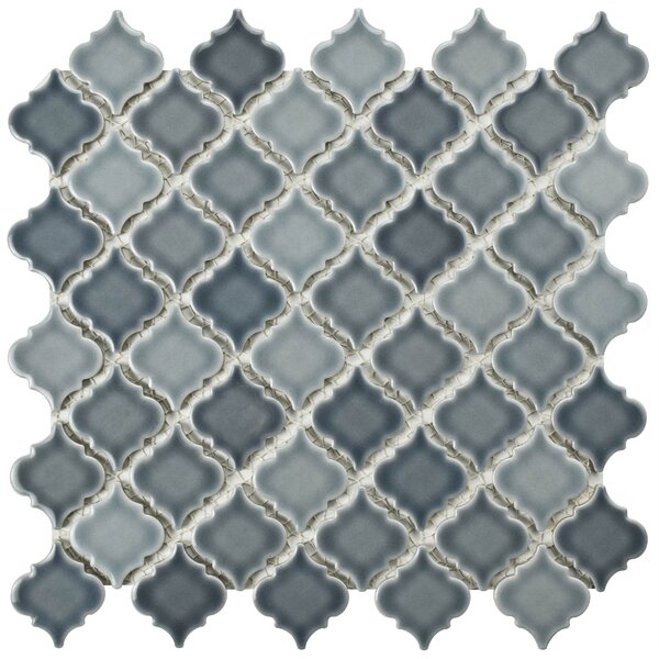 Pharsalia 2 x 2.25 Porcelain Mosaic Tile in Gray by EliteTile
