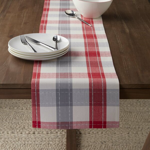 Gooding 13X72 Woven Nordic Plaid Runner by Laurel Foundry Modern Farmhouse