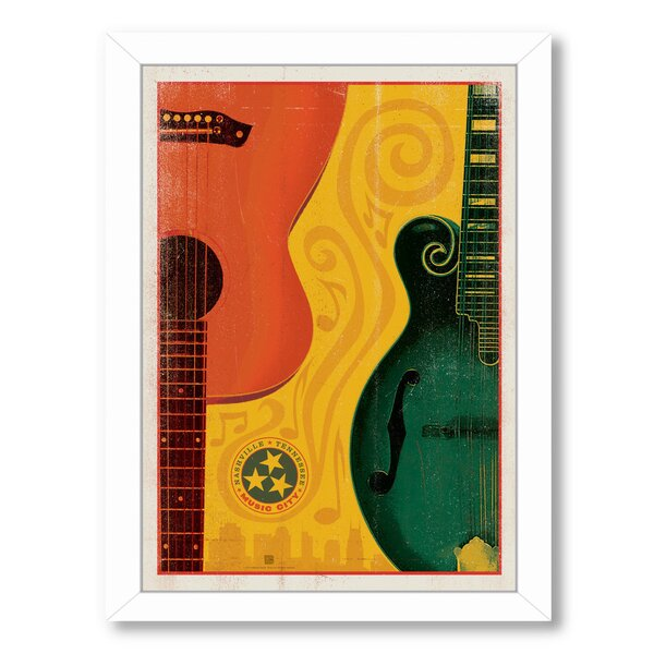 Son Guitar Mandolin Framed Vintage Advertisement by East Urban Home