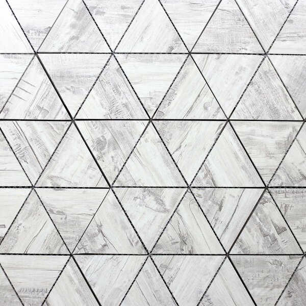 Nature Small Latern 4 x 5.5 Glass Wood Look Tile in Gray/Tan by Abolos