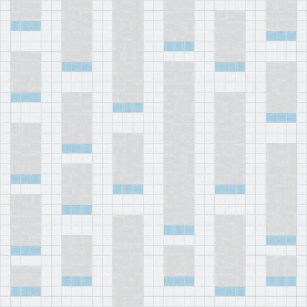 Urban Essentials Genome 3/4 x 3/4 Glass Glossy Mosaic in Breeze Blue by Mosaic Loft